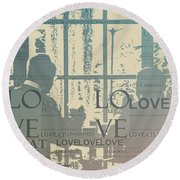 Love At Longwood Round Beach Towel