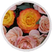 Love Bouquet Round Beach Towel