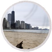 Love Chicago Round Beach Towel