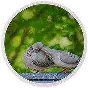 Love Doves  Round Beach Towel