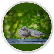 Love Doves  Round Beach Towel
