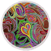 love in every shade of U v7 - love in every shade of blue Round Beach Towel