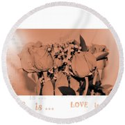Endless Love. Love Is... Collection 13. Romantic Round Beach Towel
