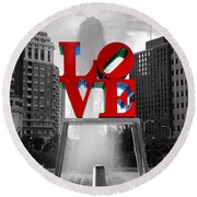 Love Isn't Always Black And White Round Beach Towel