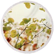 Love Leaf Round Beach Towel