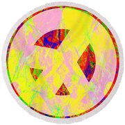 Round Beach Towel featuring the photograph Love Peace And Rock And Roll Return To The Summer Of Love 20140605 by Wingsdomain Art and Photography