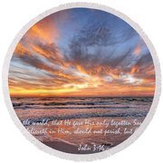 Love Personified Round Beach Towel