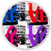 Love Pop Round Beach Towel