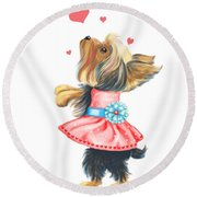 Love Without Ends Round Beach Towel