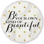 Love Words Black Iv Round Beach Towel