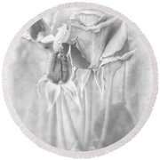 Loveliness Round Beach Towel by Peggy Hughes