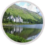 Lovely Kylemore Abbey Round Beach Towel