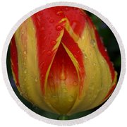 Lovely Tulip Round Beach Towel