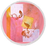 Lovers Dance 2 In Sienna And Pink  Round Beach Towel