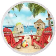 Loving Key West Round Beach Towel