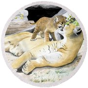 Loving Moment Round Beach Towel