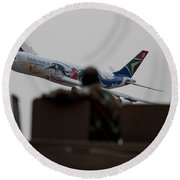 Low Airbus Round Beach Towel
