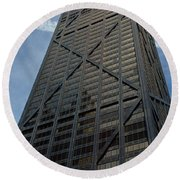 Low Angle View Of A Building, Hancock Round Beach Towel by Panoramic Images