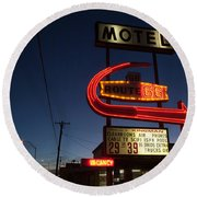Low Angle View Of A Motel Sign, Route Round Beach Towel