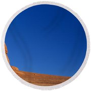Low Angle View Of A Natural Arch Round Beach Towel