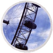 Low Angle View Of The London Eye, Big Round Beach Towel by Panoramic Images
