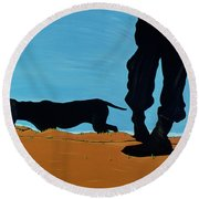 Low Tide In Chestertown, 1999 Round Beach Towel
