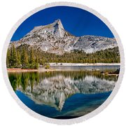 Lower Cathedral Lake Round Beach Towel