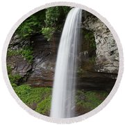 Lower Fall At Hills Creek Round Beach Towel