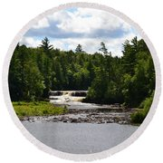 Lower Tahquamenon Falls L Round Beach Towel