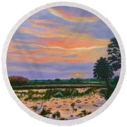 Loxahatchee Sunset Round Beach Towel