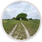 Loxahatchee Wildlife Refuge Round Beach Towel