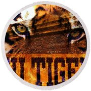 Lsu - Death Valley Round Beach Towel