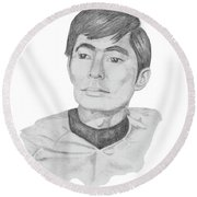 Lt. Sulu Round Beach Towel