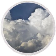 Lubbock Cloud Formation Round Beach Towel