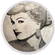 Lucille Ball Round Beach Towel