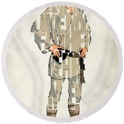 Luke Skywalker - Mark Hamill  Round Beach Towel by Ayse Deniz