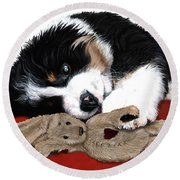 Lullaby Berner And Bunny Round Beach Towel