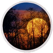 Luminescence Round Beach Towel
