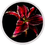 Round Beach Towel featuring the photograph Luminet Darkness by Jessica Shelton