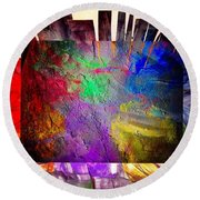Luminosity  Round Beach Towel