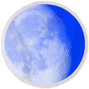 Round Beach Towel featuring the photograph Lunar Magic by Leanne Seymour