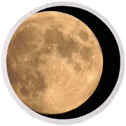 Lunar Mood Round Beach Towel