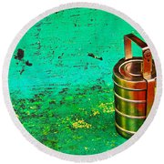 Lunch Box Round Beach Towel by Prakash Ghai