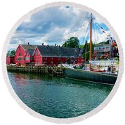 Lunenburg Nova Scotia Round Beach Towel