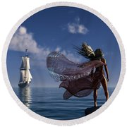 Lure Of The Siren... Round Beach Towel by Tim Fillingim