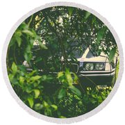 Lurking I Round Beach Towel by Marco Oliveira