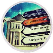 Luxembourg City Round Beach Towel