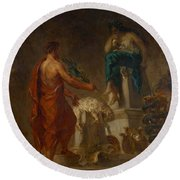Lycurgus Consulting The Pythia Round Beach Towel