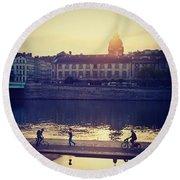 Lyon City- An Amazing Place! Round Beach Towel