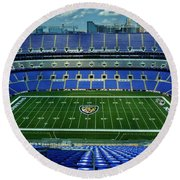 M And T Bank Stadium Round Beach Towel by Robert Geary